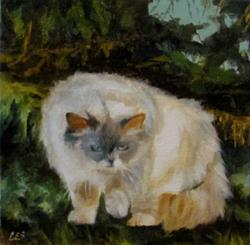 Art: Stalking Prey in the Cedars by Artist Christine E. S. Code ~CES~