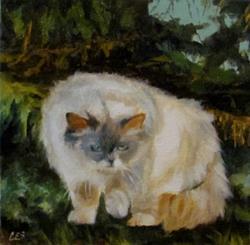 Art: Stalking Prey in the Cedars by Artist Christine E. S. Code ~CES~