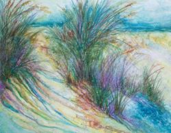 Art: SHORE & BEACH SEAGRASS WATERCOLOR by Artist Marcia Baldwin