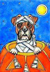 Art: boxer mummy 1.jpg by Artist Melinda Dalke