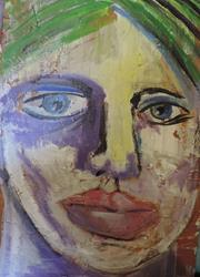 Art: face no. 50 by Artist Nancy Denommee