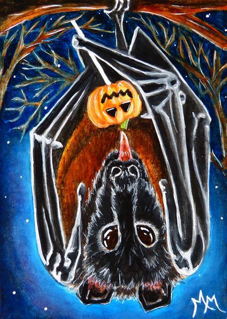 Art: Bat Candy  (SOLD) by Artist Monique Morin Matson