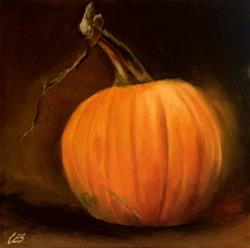Art: Anticipating Pie by Artist Christine E. S. Code ~CES~