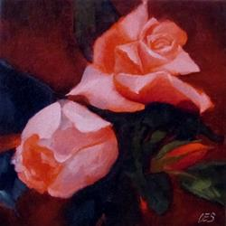 Art: Pink Roses by Artist Christine E. S. Code ~CES~