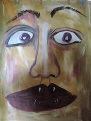 Art: face no. 51 by Artist Nancy Denommee