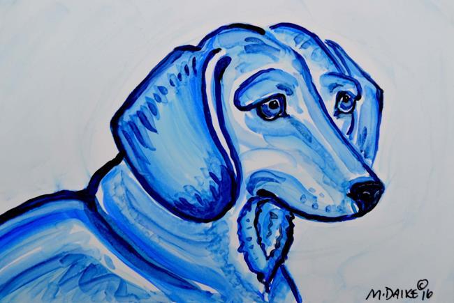 Art: Dachshund Study 3 by Artist Melinda Dalke