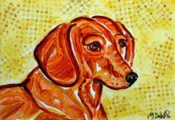 Art: Dachshund Study 4 by Artist Melinda Dalke