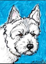 Art: Westie with Turquoise by Artist Melinda Dalke