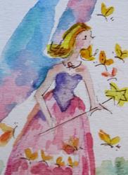 Art: Butterfly Fairy by Artist Delilah Smith
