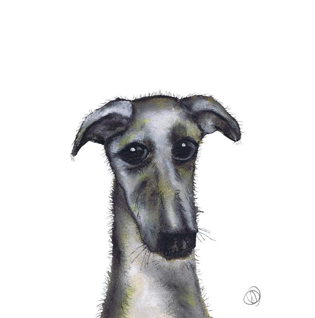 Art: GREYHOUND d920 by Artist Dawn Barker