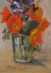 Art: Orange Flowers by Artist Delilah Smith