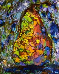 Art: Abstract Pear by Artist Ulrike 'Ricky' Martin