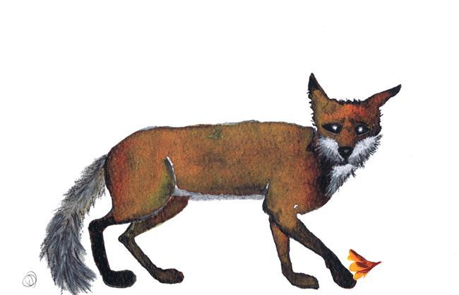 Art: FOX f110lf by Artist Dawn Barker