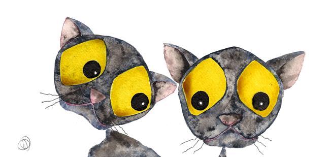 Art: CATS c2222 by Artist Dawn Barker