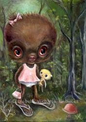 Art: Baby Sasquie by Artist Vicky Knowles