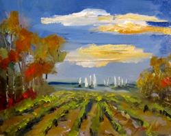 Art: Sails at the Vineyard by Artist Delilah Smith