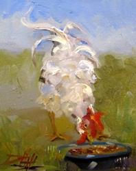 Art: White Chicken by Artist Delilah Smith