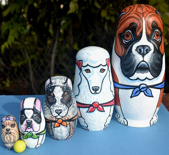 Art: Nesting Dog Doll Set 3 by Artist Melinda Dalke