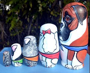 Detail Image for art Nesting Dog Doll Set 3