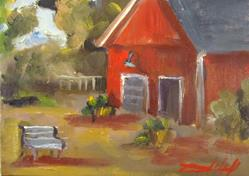 Art: Small Cider Mill by Artist Delilah Smith