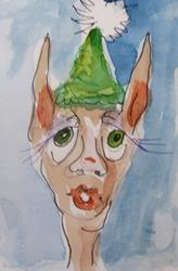 Art: Elf with Green Hat by Artist Delilah Smith