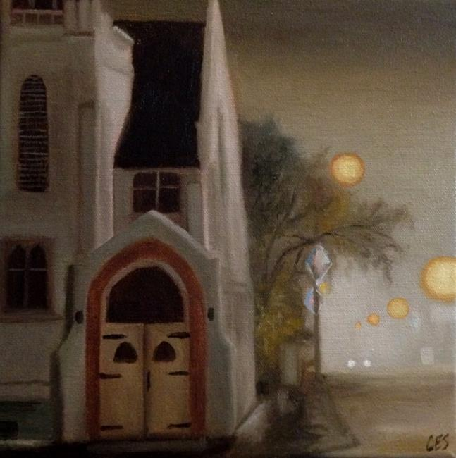 Art: Eston United Church by Artist Christine E. S. Code ~CES~
