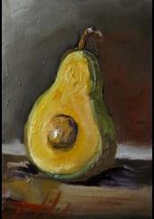 Art: Avocado Still Life by Artist Delilah Smith