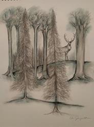 Art: Christmas Card #2 by Artist Chris Jeanguenat