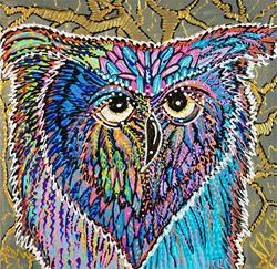 Art: Owl Power by Artist Laura Barbosa