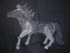 Art: Chicken Wire Horse by Leonard Collins by Artist Leonard G. Collins