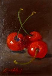 Art: Red Cherries by Artist Delilah Smith