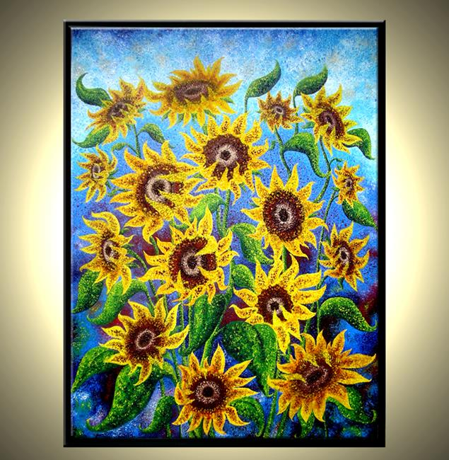 Art: SUNFLOWER REFLECTIONS by Artist Daniel J Lafferty