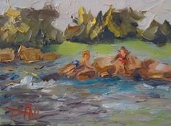 Art: The Swimming Hole by Artist Delilah Smith
