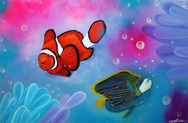 Art: The Reef by Artist Laura Barbosa
