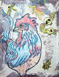 Art: Rooster Road by Artist Laura Barbosa