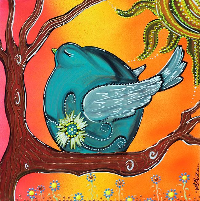 Art: Garden Bird by Artist Laura Barbosa