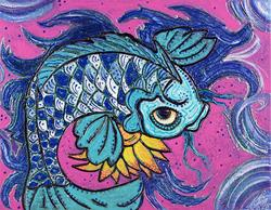 Art: Sparkling Koi by Artist Laura Barbosa
