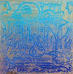 Art: Birds of Blue by Artist Laura Barbosa