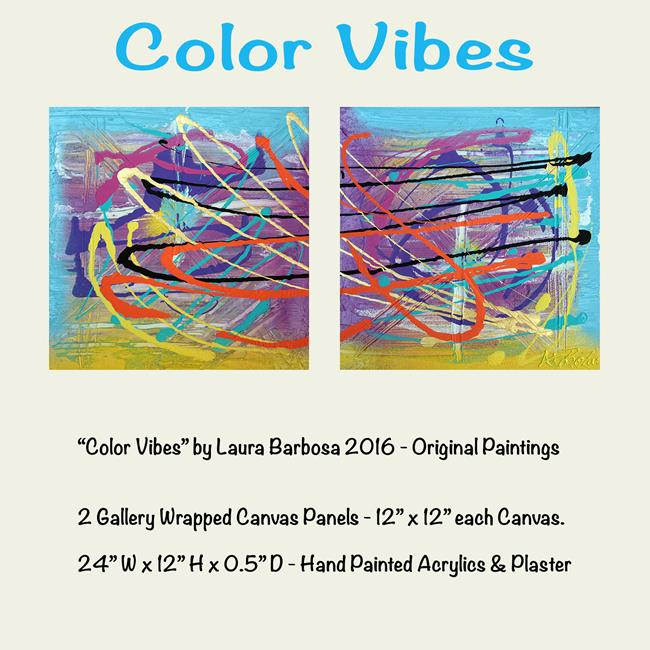 Art: Color Vibes by Artist Laura Barbosa