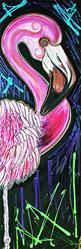 Art: Flashy Flamingo by Artist Laura Barbosa