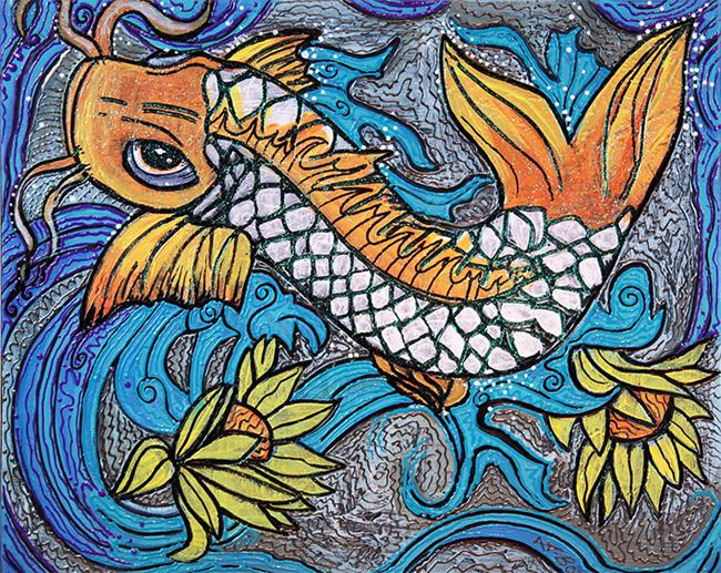 Art: Glitter Fish by Artist Laura Barbosa