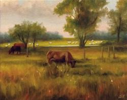 Art: Cattle and Sheep by Artist Christine E. S. Code ~CES~