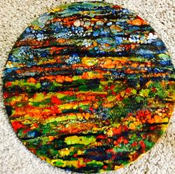 Art: Encaustic Landscape by Artist Ulrike 'Ricky' Martin