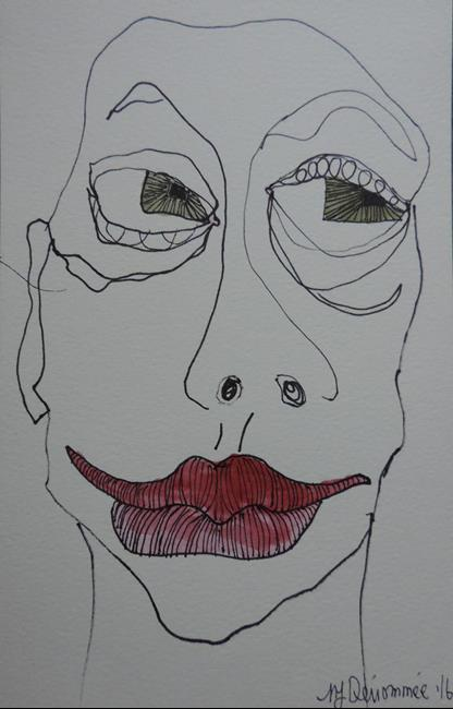 Art: face no. 107 by Artist Nancy Denommee