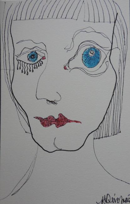 Art: face no. 104 by Artist Nancy Denommee