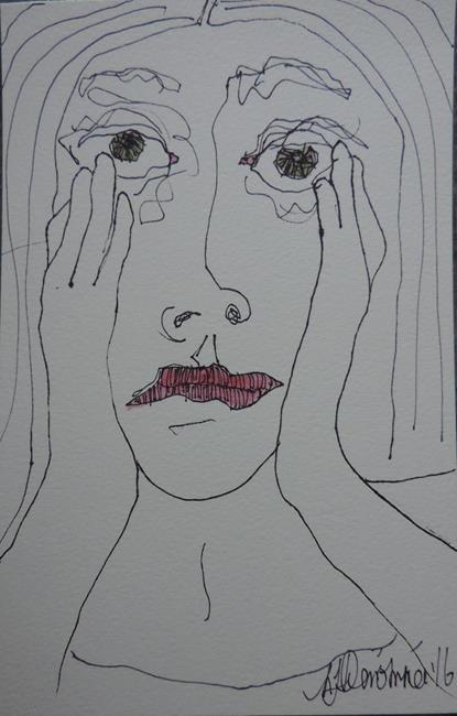 Art: face no. 105 by Artist Nancy Denommee
