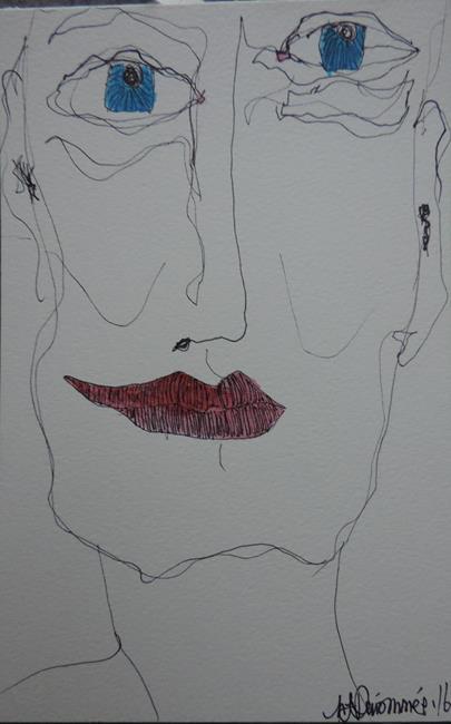 Art: face no. 106 by Artist Nancy Denommee