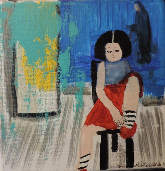 Art: new red shoes by Artist Nancy Denommee