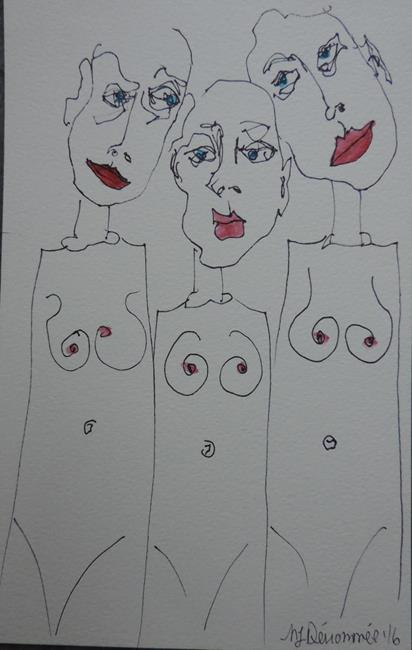 Art: three graces by Artist Nancy Denommee