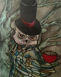 Art: A Gentleman and his Coffee by Artist Chris Jeanguenat